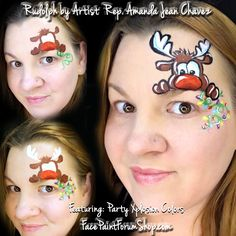 When you think about face painting designs, you probably think about simple kids face painting designs. Many people do not realize that face painting designs go Face Painting Images, Face Painting Tutorials, Face Painting Designs, Face Paintings, Face Paint Makeup, Mime Face Paint, Reindeer Face Paint, Costumes Faciles, Christmas Face Painting