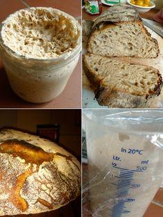 Zo maak je zuurdesem brood  Filmpje! Zuurdesem- brood bakken in 4 stappen Aga Recipes, Dutch Recipes, Raw Food Recipes, Bread Recipes, Baking Recipes, Bread Bun, Bread Cake, Good Food, Yummy Food