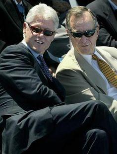 Bill Clinton & George Bush