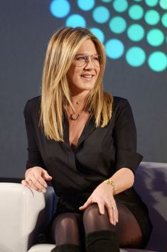 """Jennifer Aniston Photos - Actress Jennifer Aniston speaks onstage during the """"Stars of Office Christmas Party"""" panel at Entertainment Weekly's PopFest at The Reef on October 30, 2016 in Los Angeles, California. - Entertainment Weekly's PopFest"""