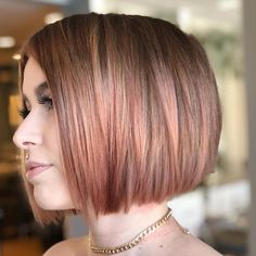 53 Adorable Blunt Bob Hairstyles to Give You a New Look Adorable Blunt Bob Hairstyles to Give You a New LookBy Posted on October 1 Cute Bob Haircuts, Asymmetrical Bob Haircuts, Bob Hairstyles For Fine Hair, Hairstyles Haircuts, Simple Hairstyles, Hairstyle Ideas, Easy Hairstyle, Bridal Hairstyle, Pixie Haircuts