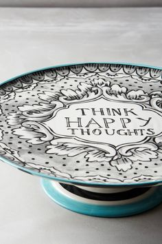 Felicitation Large Cake Stand by Molly Hatch #anthrofave #anthropologie