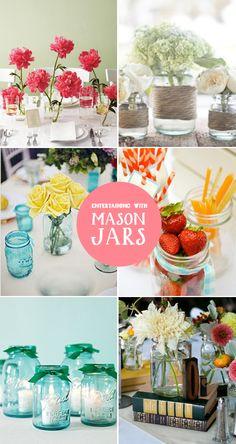 Entertaining with Mason Jars Idea #masonjars #masonjarcraftslove