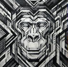 stunning geometric art by Tadaomi Shibuya