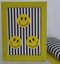 Smile Dang itYellow Smiley Face Wall Decor by ThePinkElephantShopp