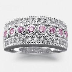 JESSICA®/MD Women's Pink Cubic Zirconia Ring In Sterling Silver - Sears | Sears Canada Canada Shopping, Cubic Zirconia Rings, Online Furniture, Pink Ladies, Wonderland, Sterling Silver, Pretty, Jewelry, Jewlery
