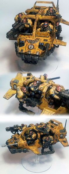 Space Marines : Imperial Fists - Exhibition of miniatures painted by other…