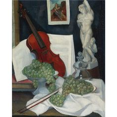 Ángel Zárraga (1886-1946) - Still Life with a Violin