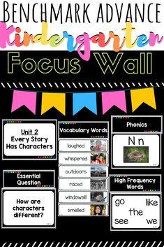 Benchmark Advance Kindergarten Focus Wall