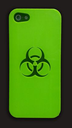BioHazard Symbol iPhone 5 and 4s Case by Untimed on Etsy, $18.50    TIGHT!