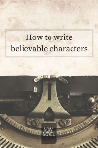 How to write believable characters - character writing and typewriter image