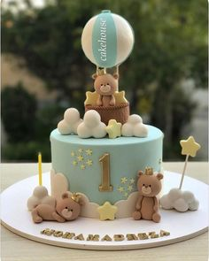 ideas baby boy birthday cupcakes for 2019 cupcakes anniversaire decoration licorne noël recette recipes cupcakes Baby Boy Birthday Cake, 1st Birthday Cakes, Baby Boy Cakes, Babyshower Cake Boy, Birthday Kids, Torta Baby Shower, Gateau Baby Shower Garcon, Bolo Fack, Teddy Bear Cakes