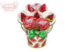 Watermelon Lollipop Centerpiece Candy Watermelon by EdibleWeddings, $24.99