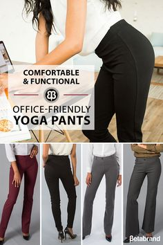 Dress Pant Yoga Pants combine sophisticated styling with a soft, stretch performance knit. These will be the MOST COMFORTABLE PANTS you ever wear to work. Account holders get free shipping on every pair! (Free returns too!).