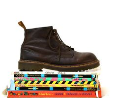 Amazing 90s Brown Dr. Martens Boots Size Women 10 by Hookedonhoney