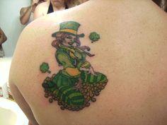 25 Clover, Shamrock and Leprechaun Tattoo Designs