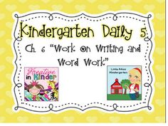 Little Miss Kindergarten - Lessons from the Little Red Schoolhouse!: Daily 5 Chapter 6!