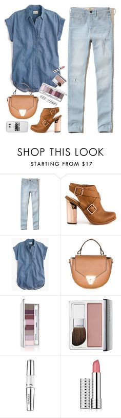 """Street style"" by vazsu ❤ liked on Polyvore featuring Hollister Co., Kristin Cavallari, J.Crew, Pia Sassi, Clinique, Casetify, StreetStyle, denim and clinique"