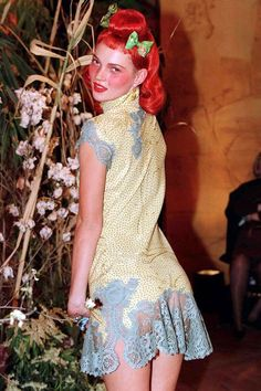 1997 On the John Galliano catwalk.  Photo By Rex Features  http://www.vogue.co.uk/spy/celebrity-photos/2011/05/19/style-file---kate-moss/viewgalleryframe/394951?