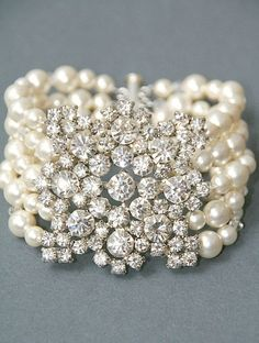 Diamonds and pearls...awesome bracelet...