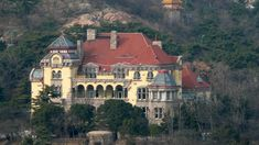 Este es un ejemplo de las casas que se puede uno encontrar en Qingdao. No me costó trabajo imaginar al mafioso de Li Jintao de mi novela como dueño de una casa parecida a esta.