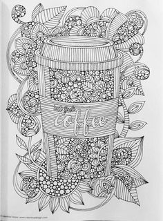 Creative Coloring A Second Cup of Inspirations: More Art Activity Pages to Help You Relax (Design Originals) Printable Adult Coloring Pages, Cute Coloring Pages, Doodle Coloring, Mandala Coloring Pages, Coloring Pages To Print, Coloring Books, Creative Colour, Colorful Drawings, Mandala Art