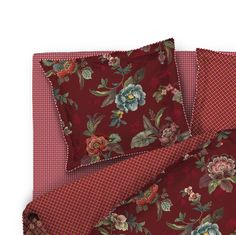 Pip Studio - Kopfkissenhülle Poppy, Colour: Transparent/Rot Pip Studio, Grob, Poppies, Pillow Cases, Wallet, Pillows, Bags, Oxford, Color