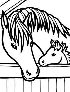Dibujo para colorear de caballos (nº 6)