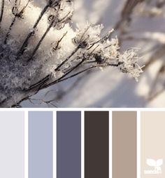 Design Seeds l winter tones Hue Color, Colour Pallette, Colour Schemes, Color Patterns, Winter Colour Palette, Design Seeds, Pantone, Winter Colors, World Of Color