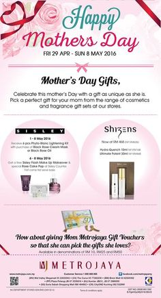 28 Apr-8 May 2016: Metrojaya Mother's Day Special Promotion