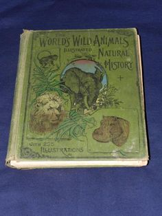 1901 The World's Wild Animals Natural History W A Foster Vintage Hardcover Book