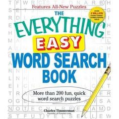 Buy The Everything Easy Word Search Book by Charles Timmerman at Mighty Ape NZ. Get ready to sit back, relax, and engage your brain with The Everything Easy Word Search Book! This book is fi. Easy Word Search, Word Search Puzzles, E Puzzle, Puzzle Books, G Words, Bible Words, Book Outlet, Paperback Books, Nonfiction Books