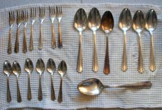 6 Art Deco silver plated cutlery no box from by PlanetNathalie2, €24.90