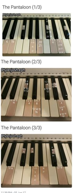 The Pantaloon (piano) by @/tylerjosh.eph on Instagram