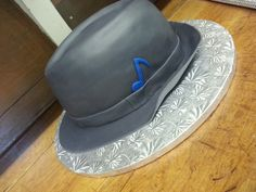 Fedora hat cake (with a sheet cake under it!)