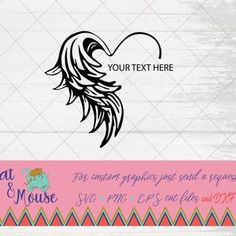 Memorial Tattoos, Memorial Quotes, Wing Tattoo Designs, Silhouette Machine, Silhouette Cameo, Word Design, Angel Wings, Photoshop Elements, Small Tattoos