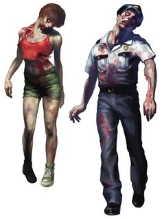 Resident Evil 2: Woman & Policeman Zombies