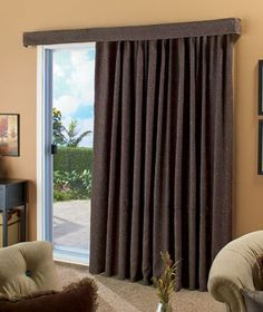 "Give your home a modern makeover with a 140? Lose the Louvers Patio Curtain. Contemporary textured woven panel and valance adds style and sophistication to any large window. Use them to replace a standard 78"" vertical blind. The panel includes 25 eve"