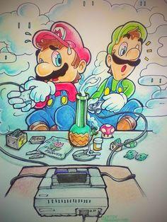 Mario And Luigi Smoking Weed Sessions mario kart