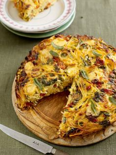 Spaghetti Cake from Jamie Oliver. A vegetarian version of the Italian dish, Tetrazzini.