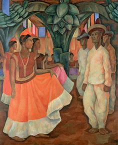 Diego Rivera Mexican, 1886-1957  Baile in Tehuantepec (Dance in Tehuantepec), 1928  Oil on canvas 200.7 x 163.8 cm