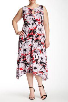 Image of Taylor Sleeveless A-Line Midi Dress (Plus Size)