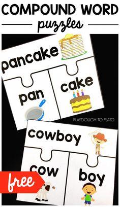 Compound Word Puzzles - Playdough To Plato