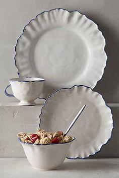 Ruffled Rim Dinnerware - anthro