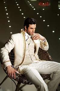 Ivory men wedding Groom wear