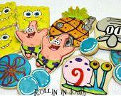 Spongebob themed cookies