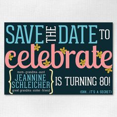 60th Birthday Save the Date | Save-the-Date Magnet for a Birthday ...
