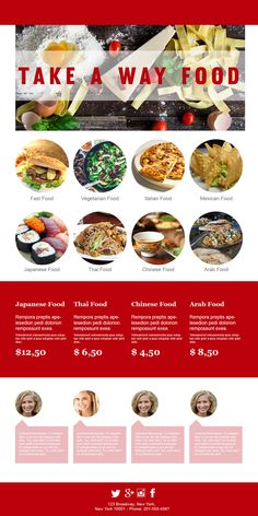 10 best email templates for restaurants images email newsletters