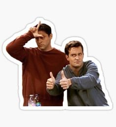 """""""loser friendship"""" Stickers by Bubble Stickers, Meme Stickers, Cool Stickers, Printable Stickers, Laptop Stickers, Chandler Friends, Joey Friends, Friends Moments, Friends Tv Show"""