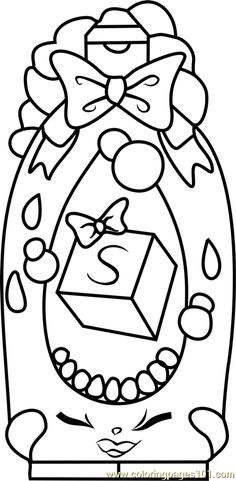 Shampoo Sue Shopkins Coloring Page
